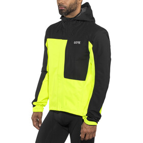 GORE WEAR C3 Gore-Tex Paclite Hooded Jacket Men neon yellow/black